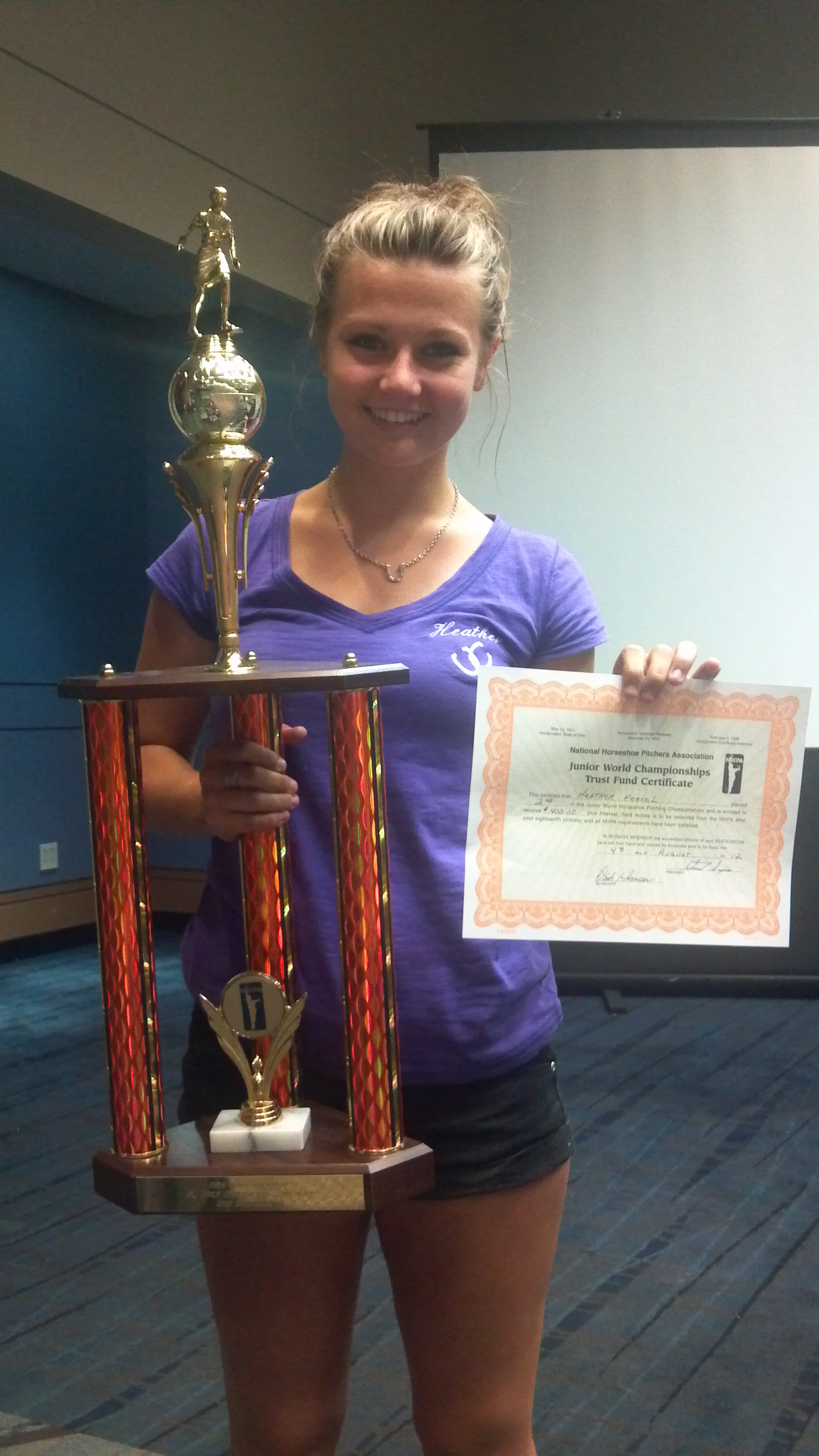 2012 WT,Knoxville-Heather Feavel-2nd place Jr Girls Championship